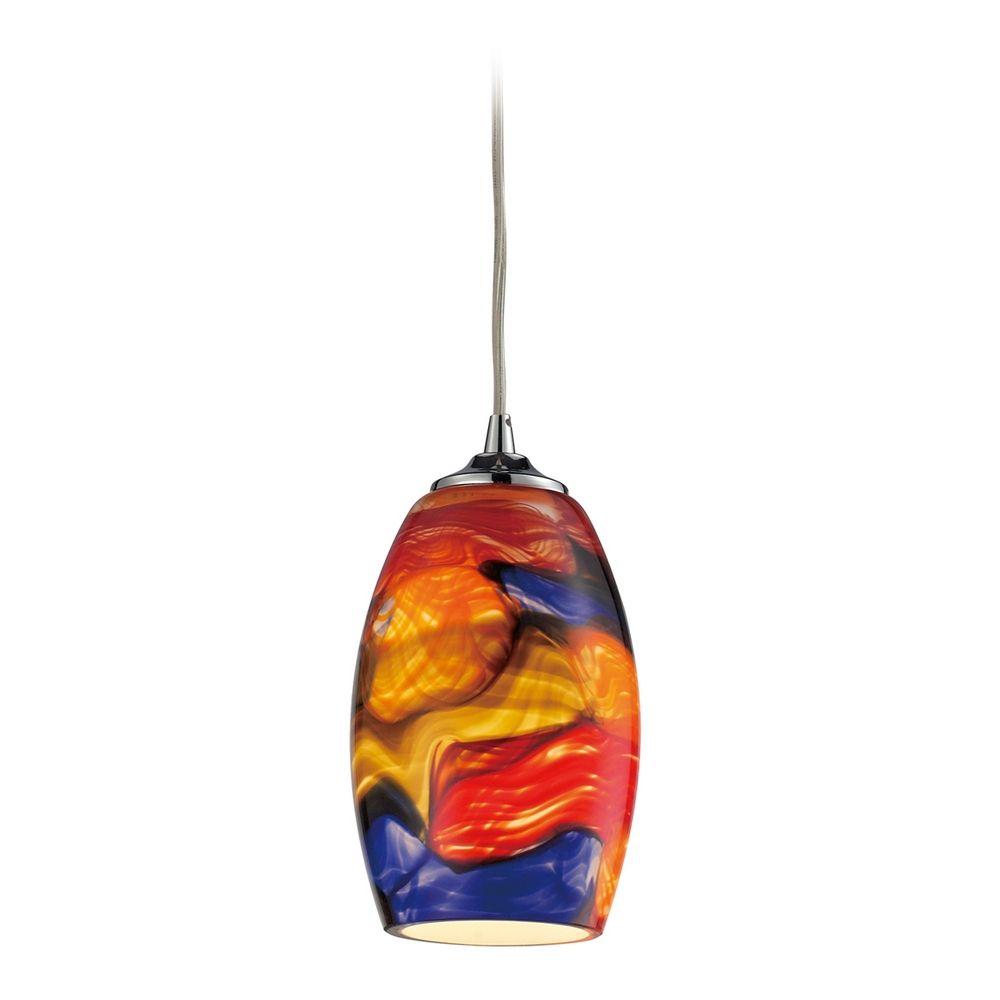 Modern led mini pendant light with multi color glass 313391 led product image aloadofball Gallery
