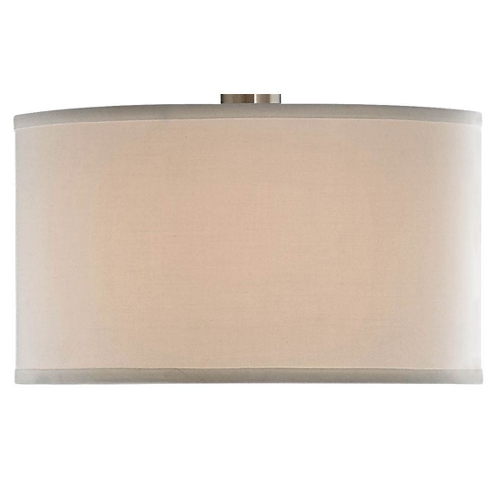 satin nickel arc floor lamp with modern drum shade 2278 09