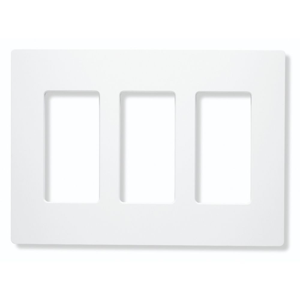 screwless three gang wallplate cw 3 wh destination lighting. Black Bedroom Furniture Sets. Home Design Ideas