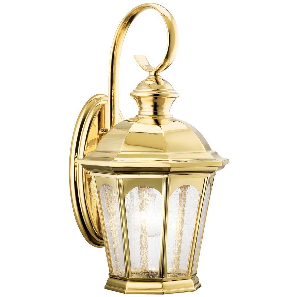 Outdoor Wall Light Polished Brass : Kichler Lighting Kichler Outdoor Wall Light in Polished Brass Finish 9037PB