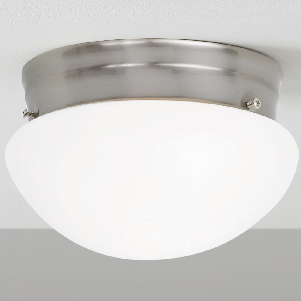 6 Inch Satin Nickel Flushmount Ceiling Light 29620 Destination Lighting