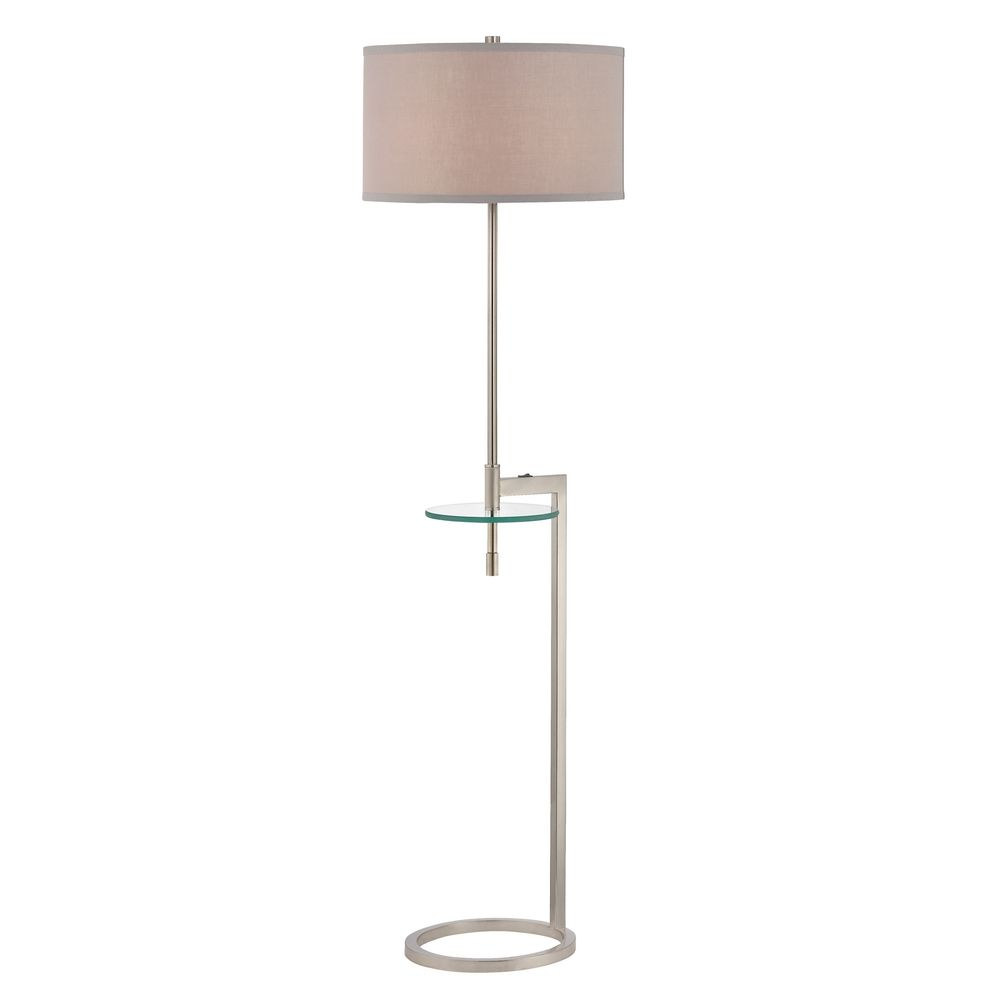 design classics lighting floor lamp with glass tray table and pewter. Black Bedroom Furniture Sets. Home Design Ideas
