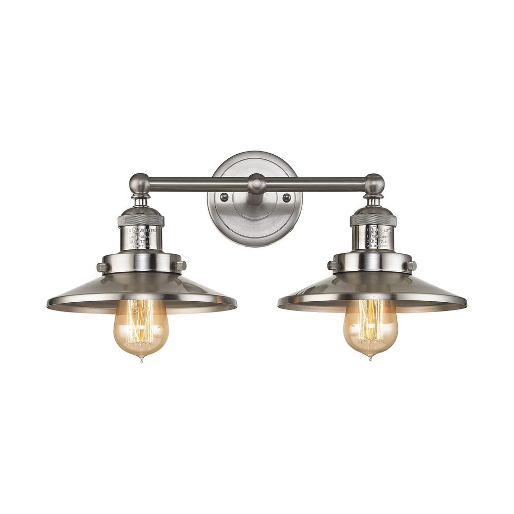 Elk Lighting Belmont: Elk Lighting English Pub Satin Nickel Bathroom Light