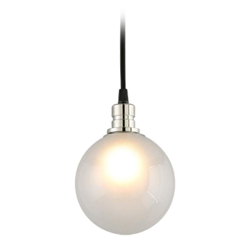 Mid Century Modern Lighting: Mid-Century Modern Mini-Pendant Light Black And Polished