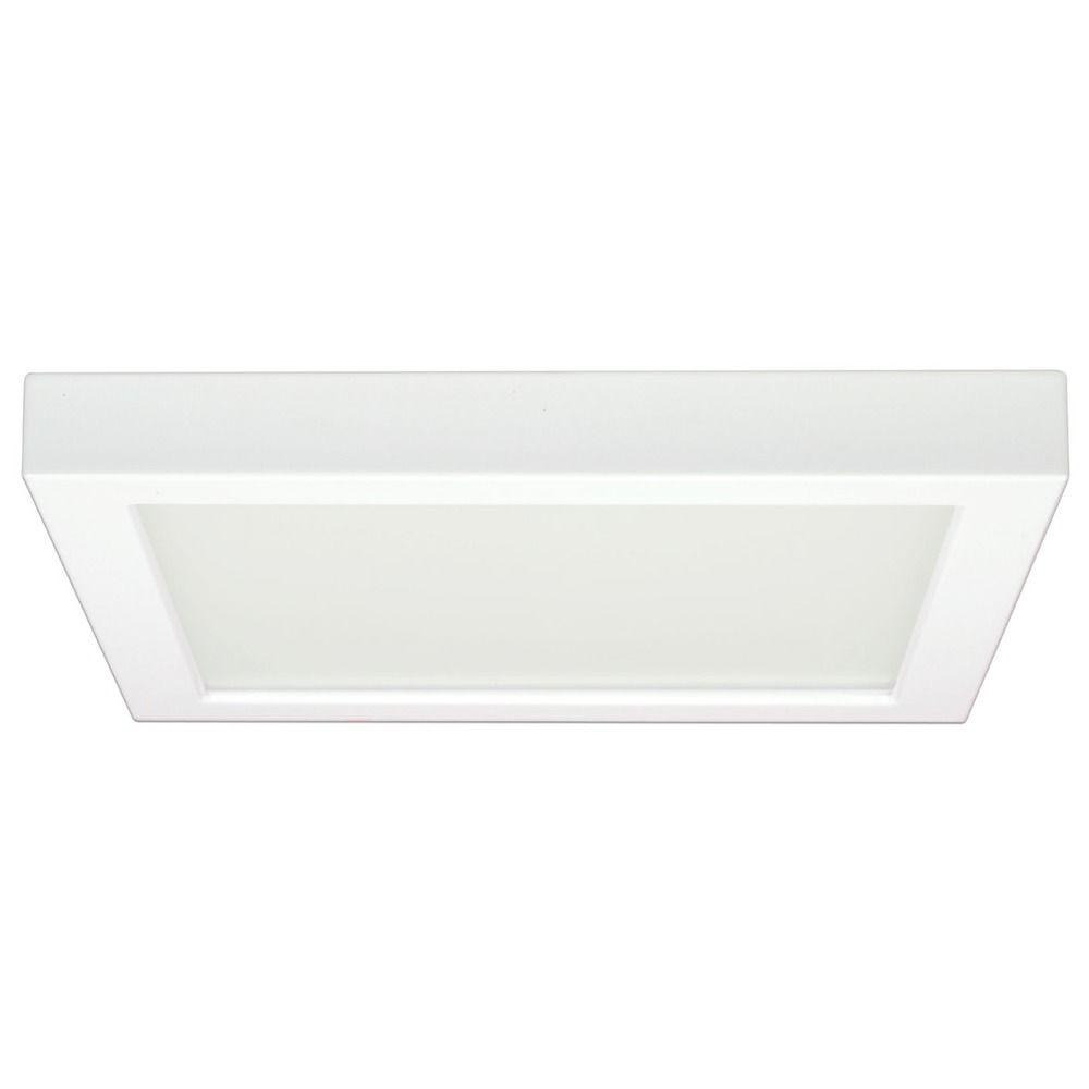 Low profile ceiling lights flush mount ceiling designs 9 inch square white low profile led flushmount ceiling light mozeypictures Images