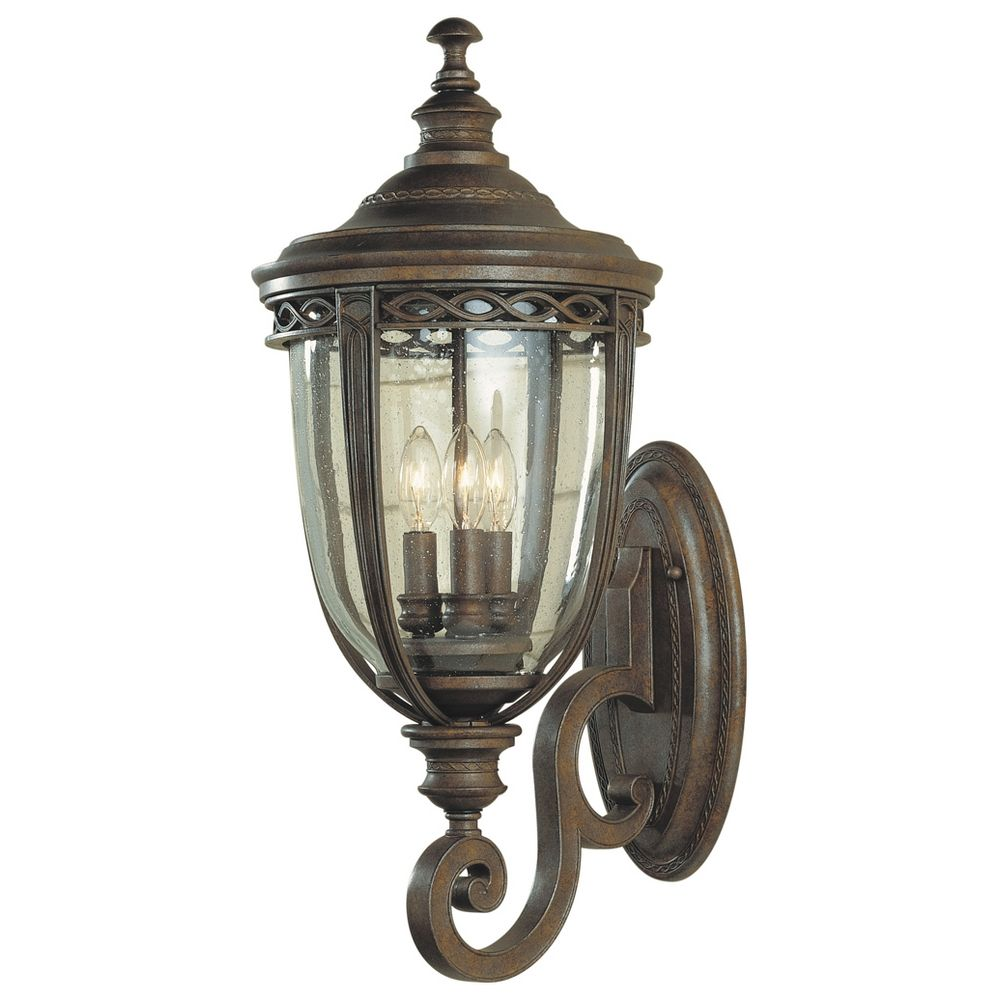 Bronze Finish Wall Lights : Outdoor Wall Light in British Bronze Finish OL3004BRB Destination Lighting