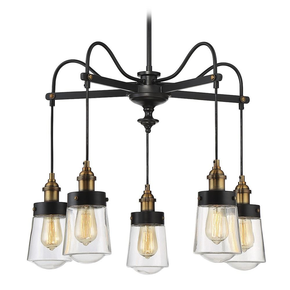 mid century modern chandelier black brass macauley by. Black Bedroom Furniture Sets. Home Design Ideas