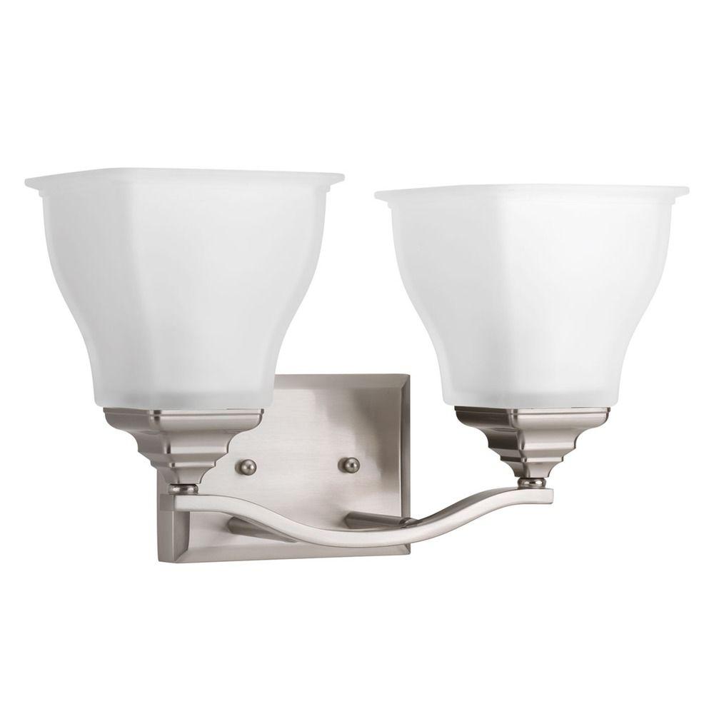 Progress Lighting Callison Brushed Nickel Bathroom Light P2176 09 Destination Lighting