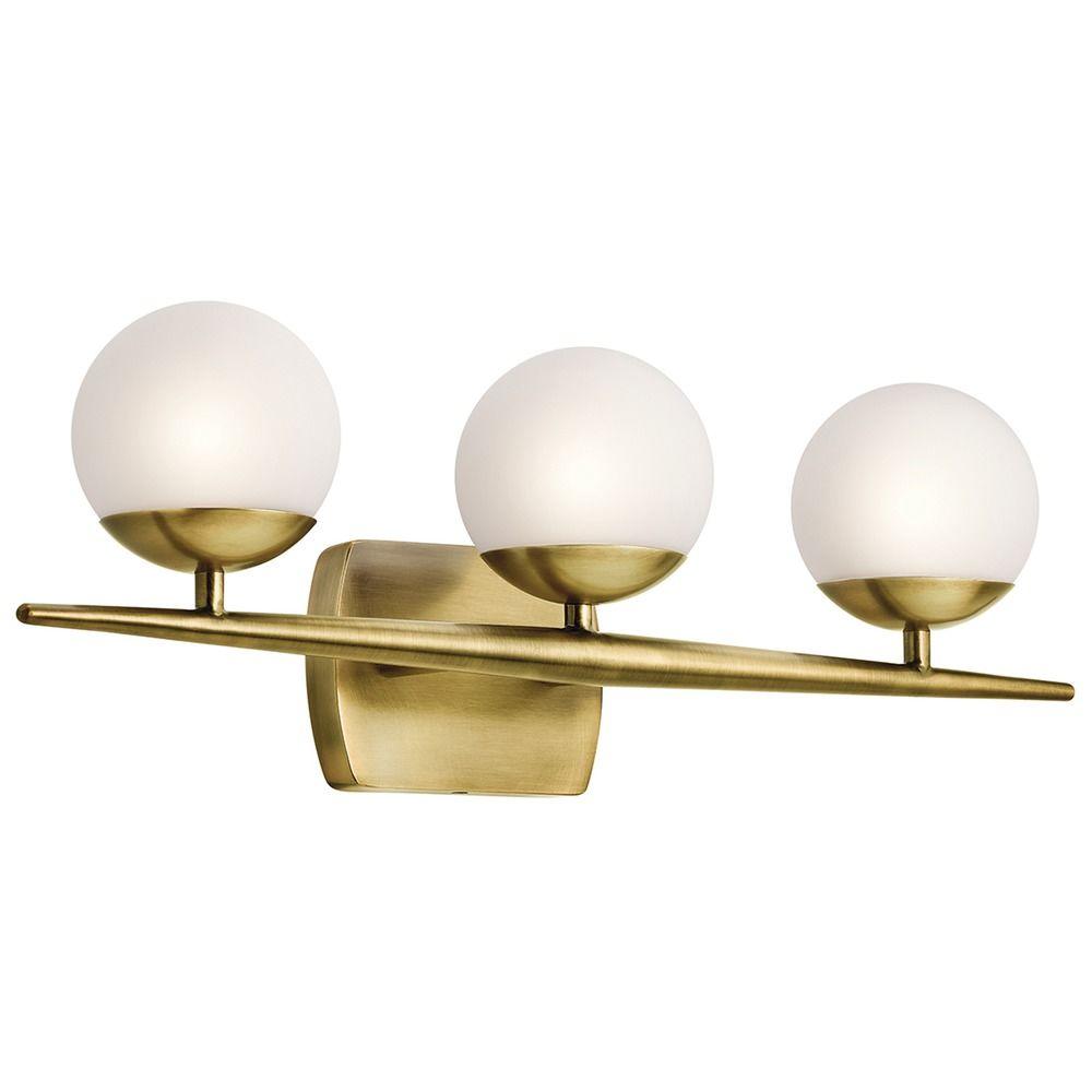 Mid Century Bathroom Light Fixtures: Mid-Century Modern Bathroom Light Brass Jasper By Kichler