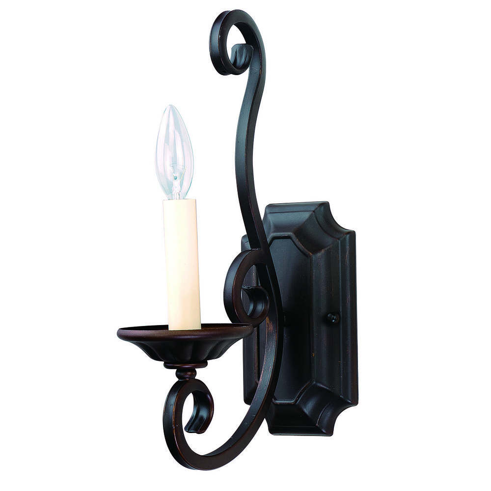 Wall Sconces Bronze Finish : Sconce Wall Light in Oil Rubbed Bronze Finish 12217OI Destination Lighting