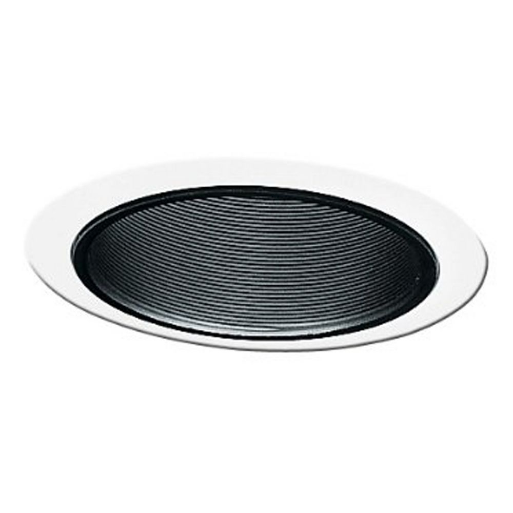 juno recessed black baffle 5 inch trim with white trim. Black Bedroom Furniture Sets. Home Design Ideas