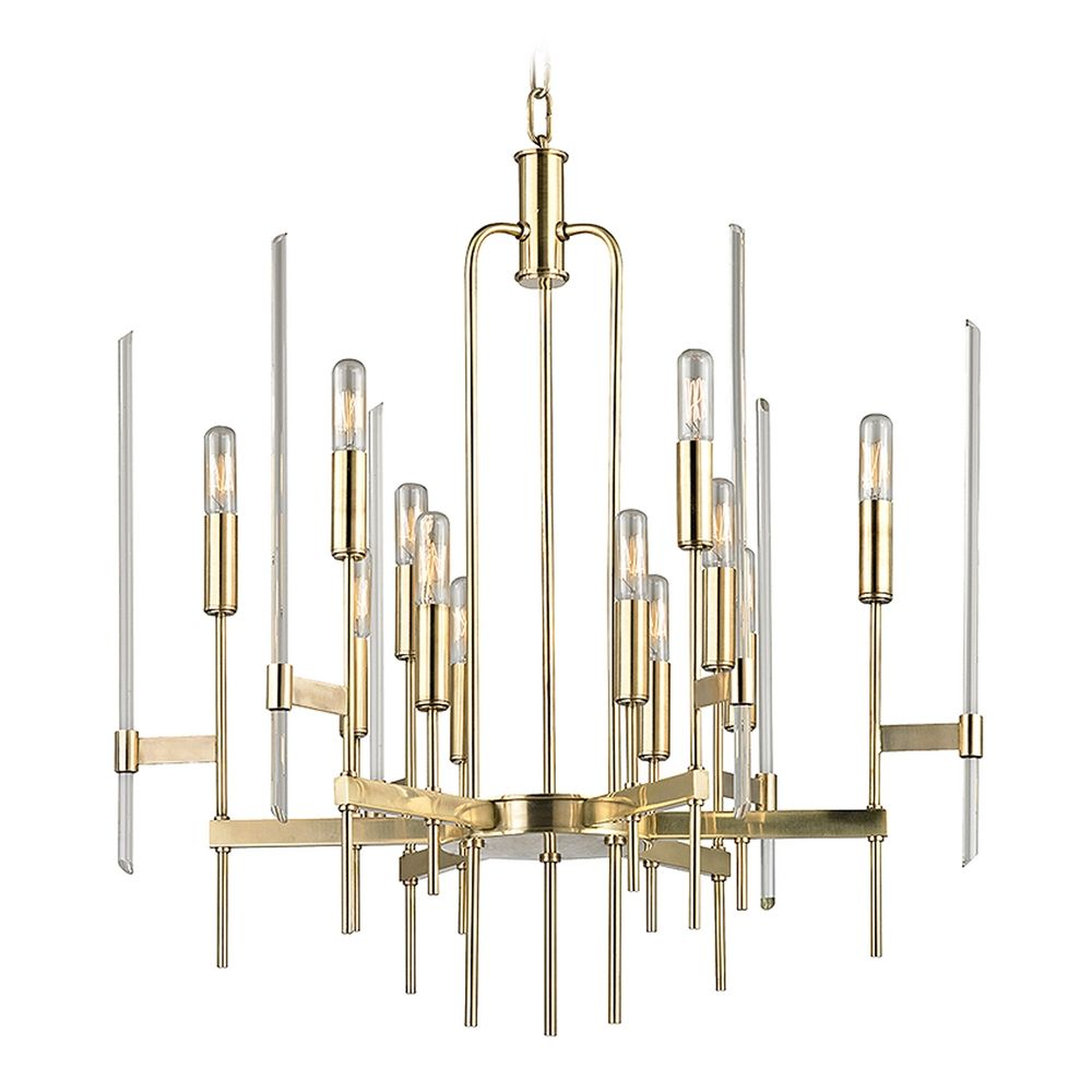 Mid Century Modern Chandelier Brass Bari By Hudson Valley