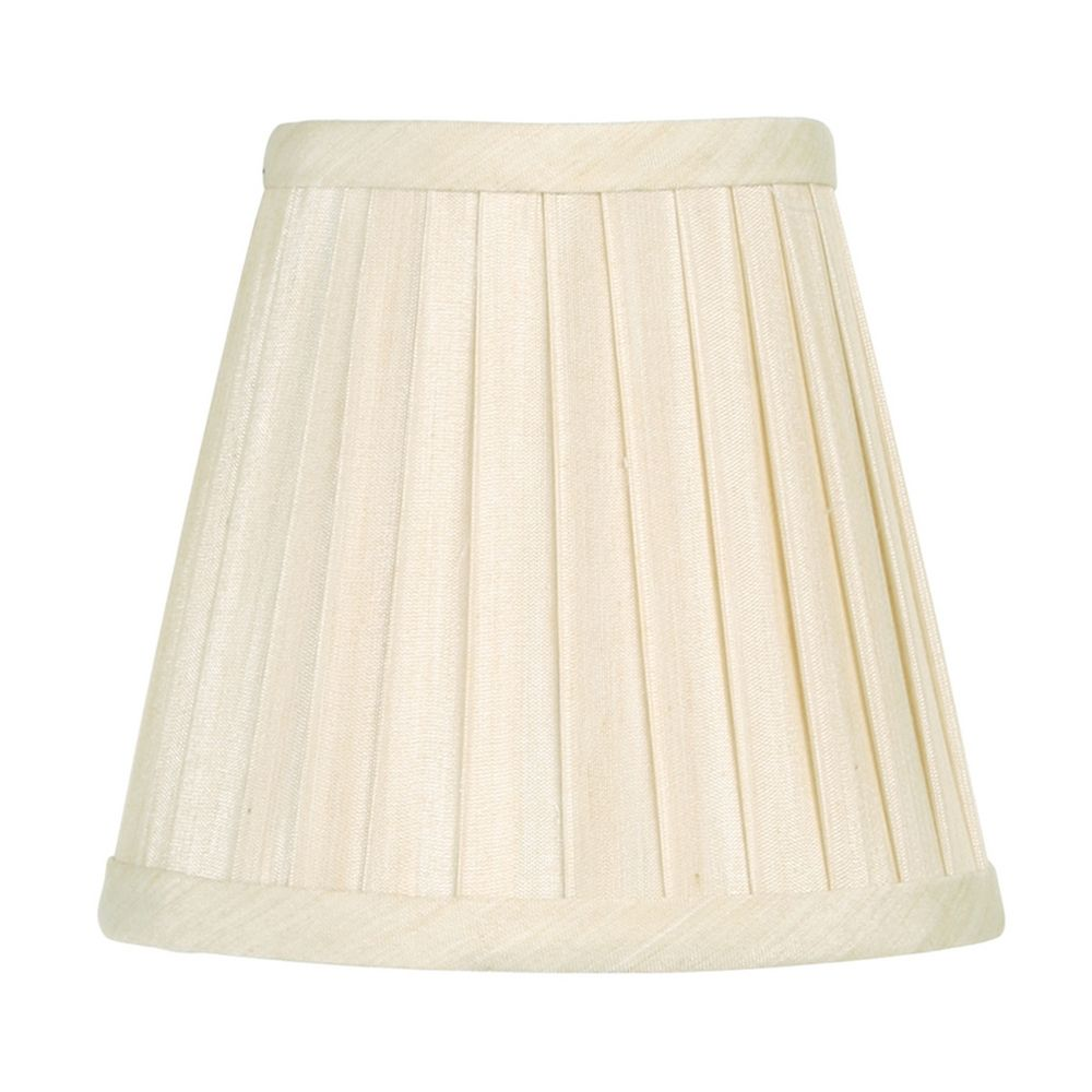 pleated off white empire lamp shade with clip on lamp shade assembly. Black Bedroom Furniture Sets. Home Design Ideas