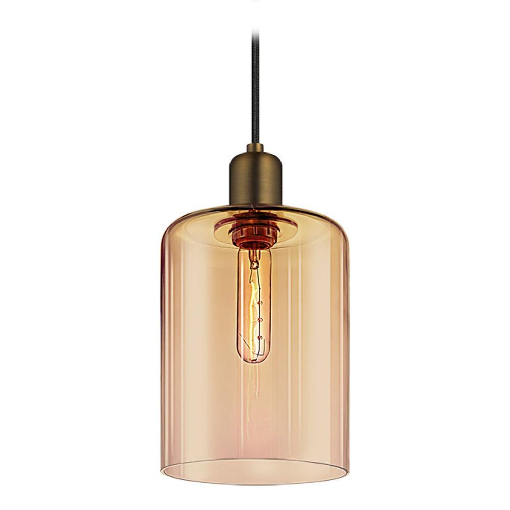 Industrial mini pendant light retro brass cloche by for Sonneman lighting