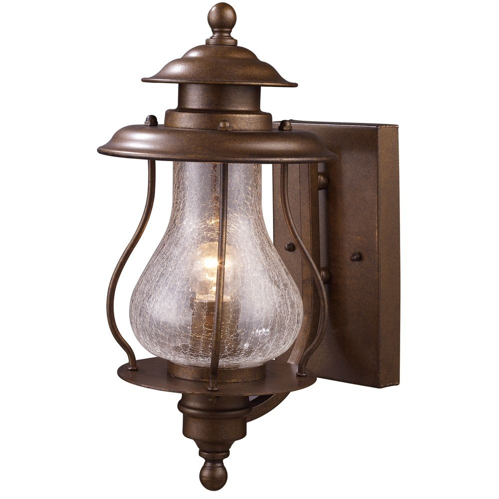 Outdoor Wall Light with Clear Glass in Coffee Bronze ...