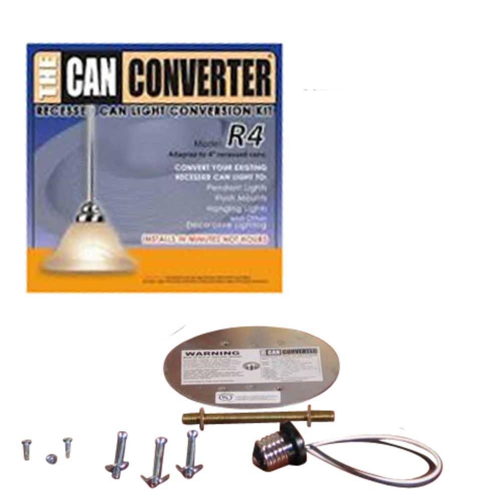 Vanity Light Conversion Kit : Can Converter Kit for 4-Inch Recessed Lights R4 Destination Lighting