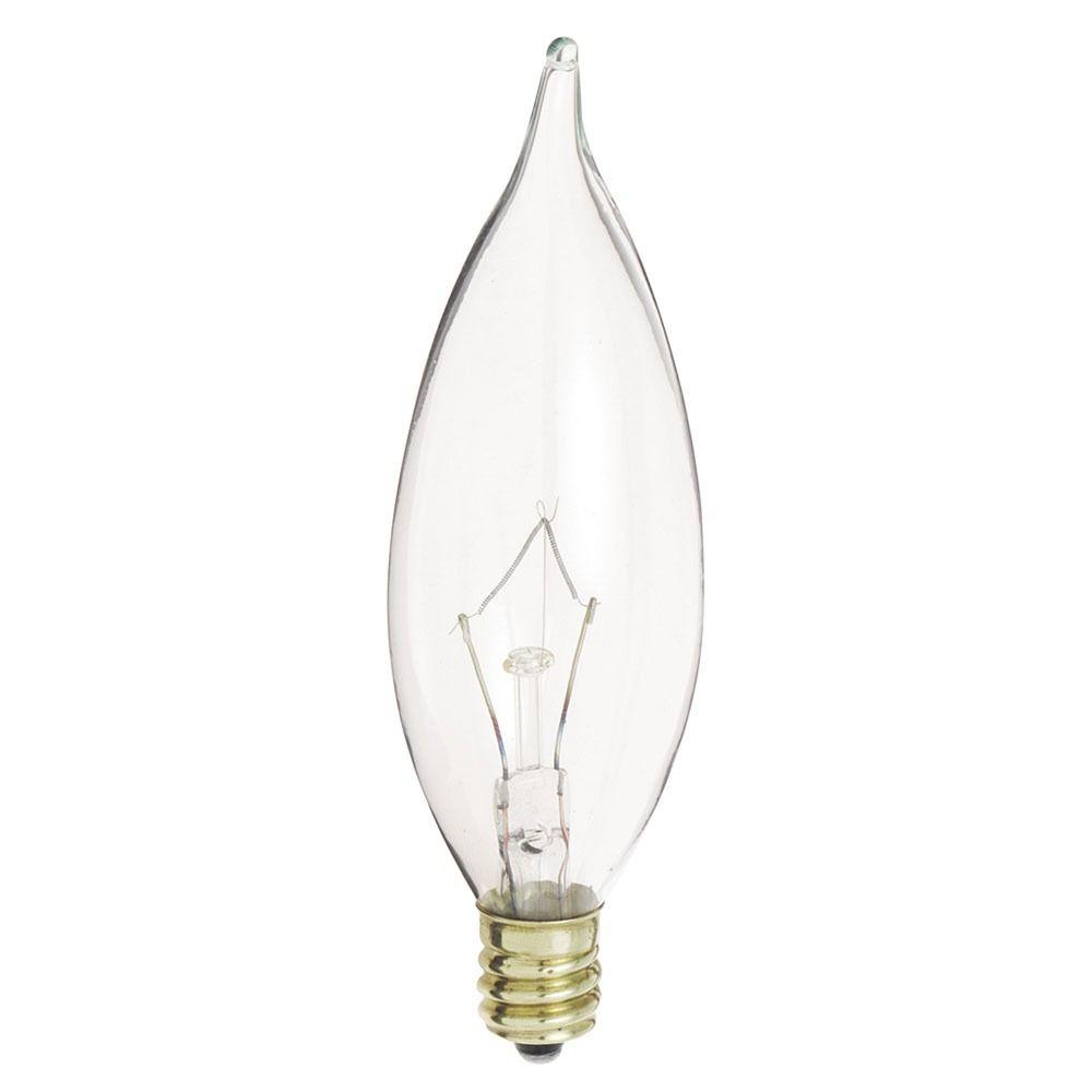 incandescent flame light bulb candelabra base dimmable