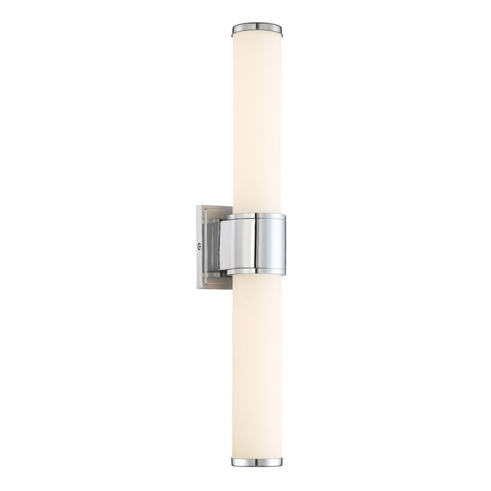 Vanity Lighting Vertical : Designers Fountain Linden Chrome LED Vertical Bathroom Light LED6872-CH Destination Lighting
