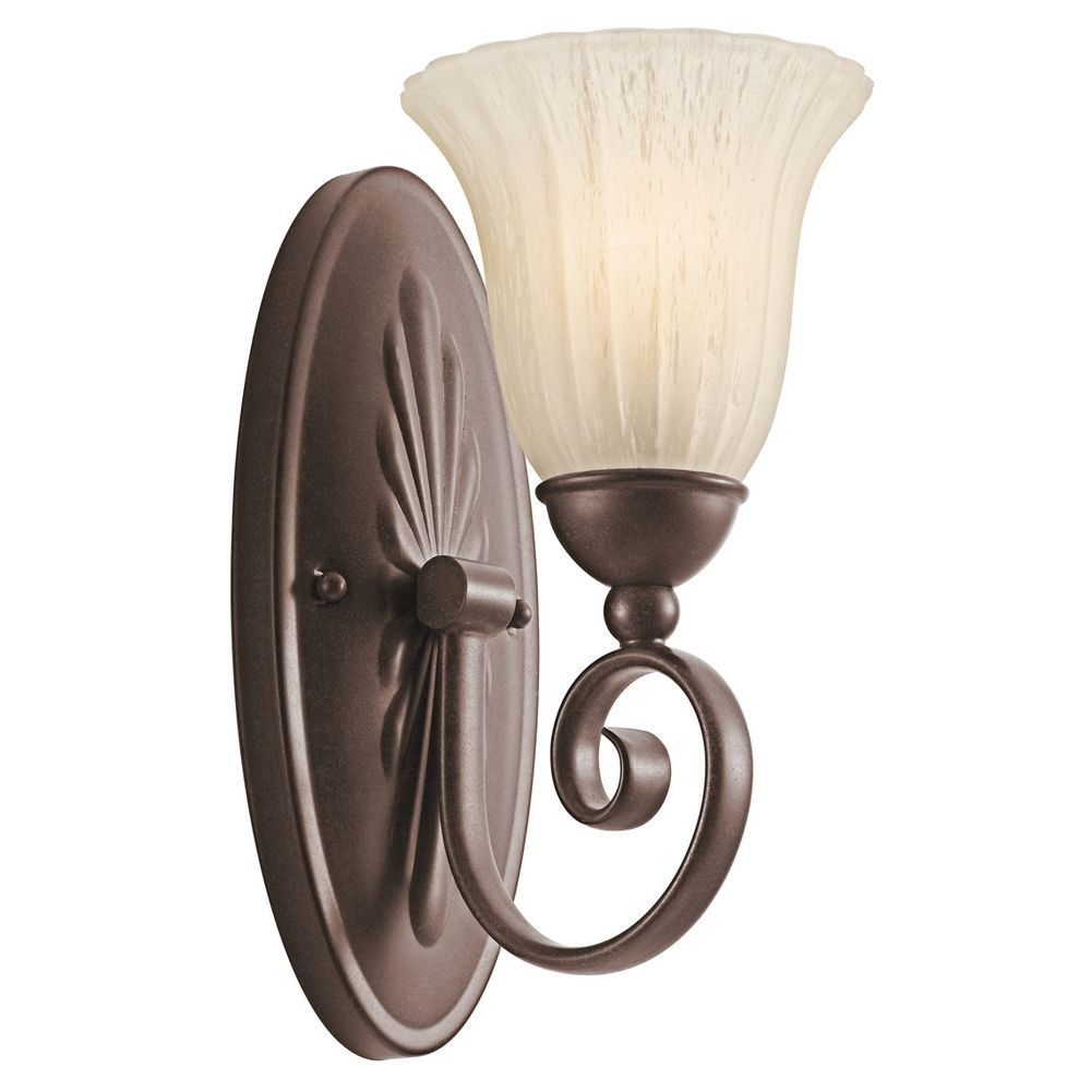 Wall Sconces Bronze Finish : Kichler Sconce Wall Light in Bronze Finish 5926TZ Destination Lighting