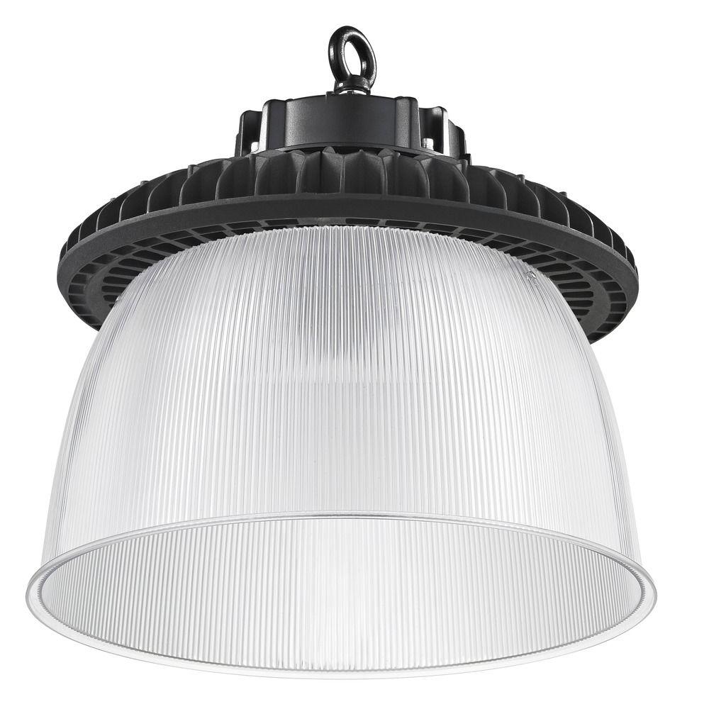 240 Watt Led High Bay Lights: Prismatic Glass UFO LED High Bay Light Black 240-Watt