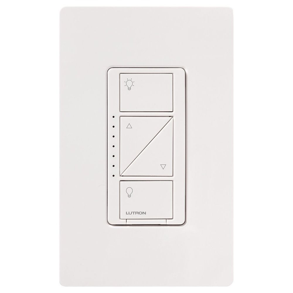 lutron white dimmer switch pd 6wcl wh destination lighting. Black Bedroom Furniture Sets. Home Design Ideas