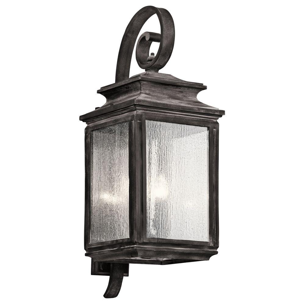 Kichler Lighting Wiscombe Park Weathered Zinc Outdoor Wall Light 49504WZC Destination Lighting