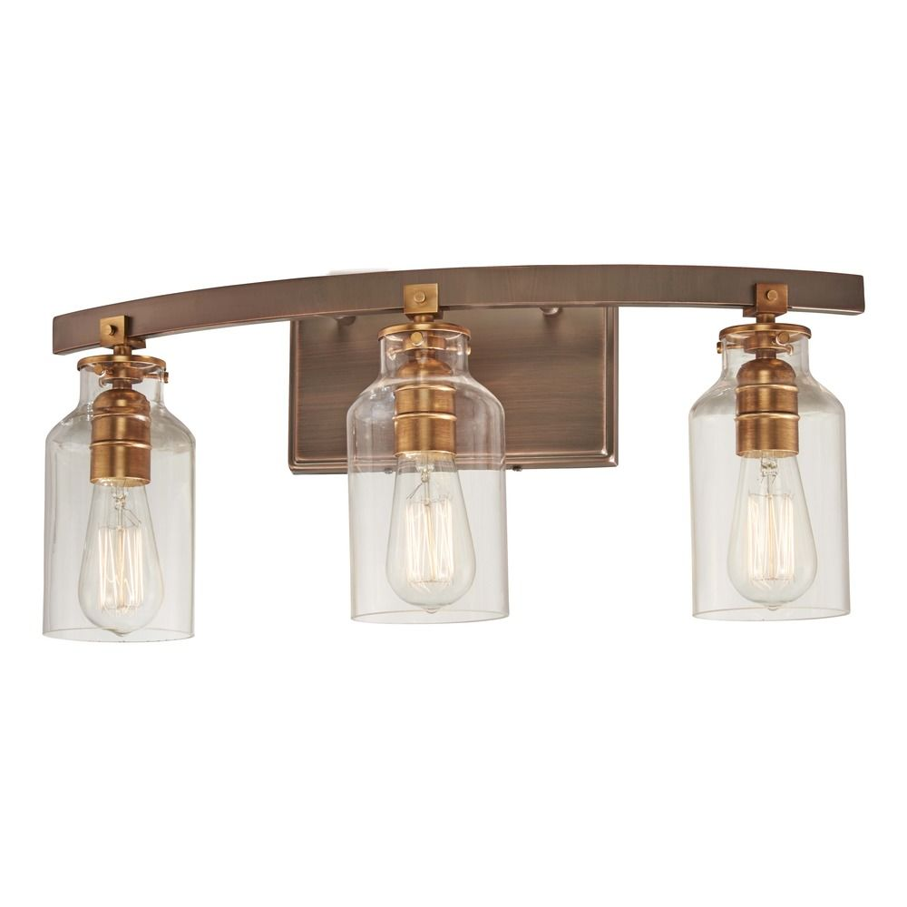 Edison bulb bathroom light bronze w gold highlights 22 for Bronze and gold bathroom accessories