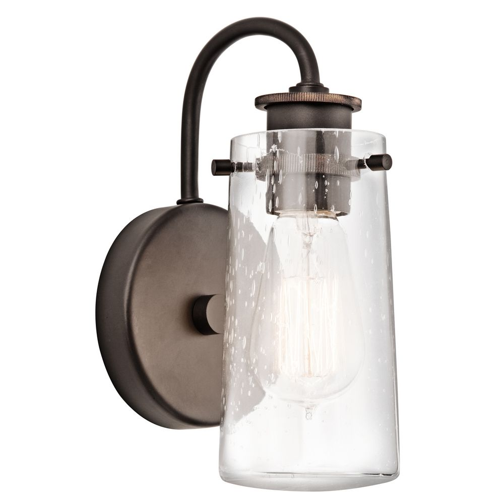 Kichler Lighting Lights: Kichler Sconce Wall Light With Clear Glass In Olde Bronze