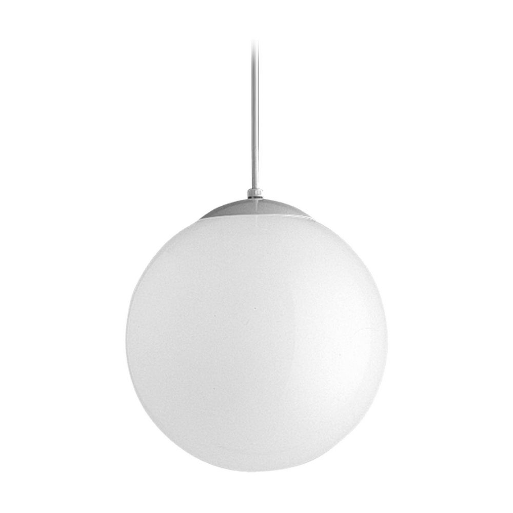 Progress Globe Pendant Light With White Glass