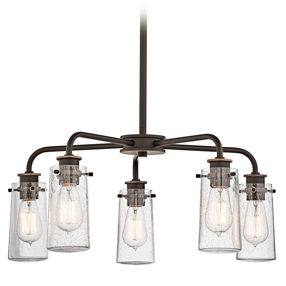 Kichler chandelier with clear glass in olde bronze finish 43058oz kichler chandelier with clear glass in olde bronze finish mozeypictures Image collections