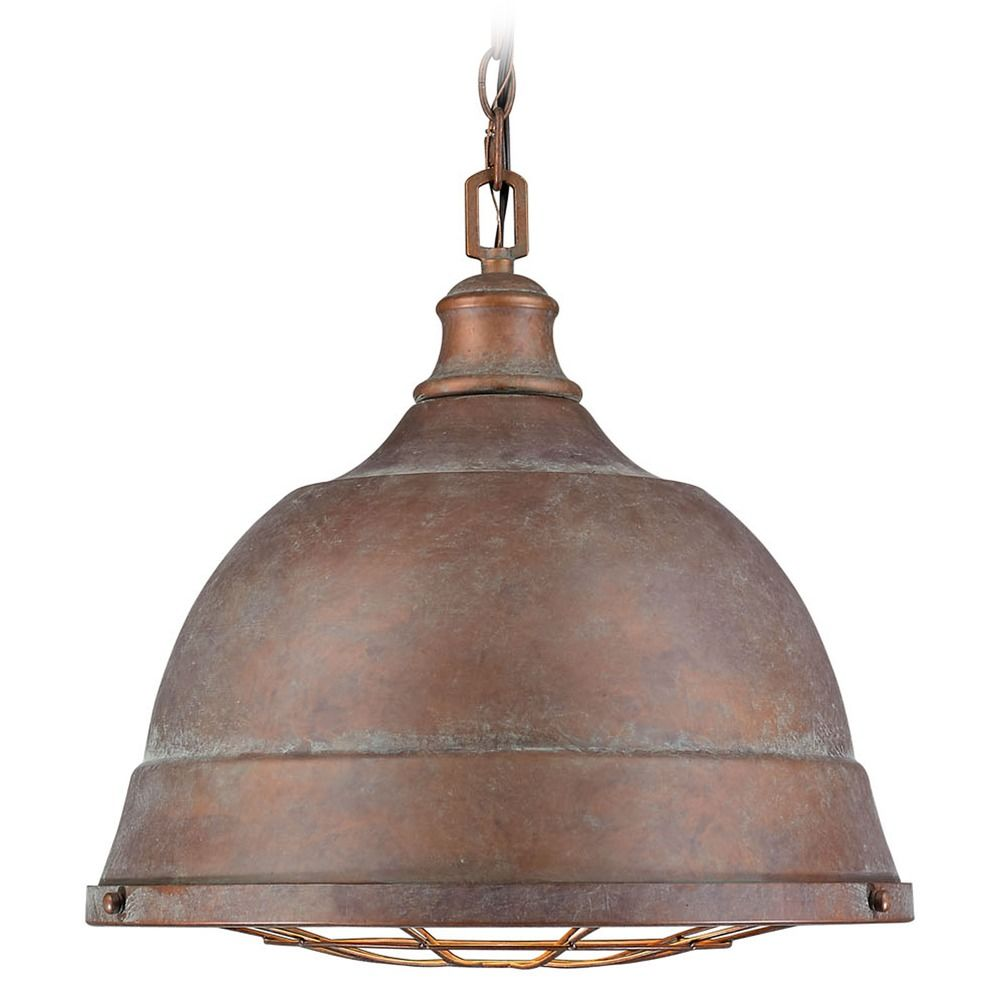 Golden Lighting Bartlett Copper Patina Pendant Light