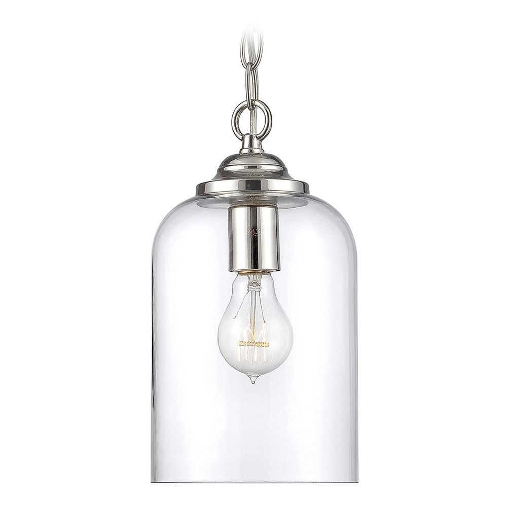 Parkdale Oval Coffee Table: Savoy House Lighting Bally Polished Nickel Mini-Pendant