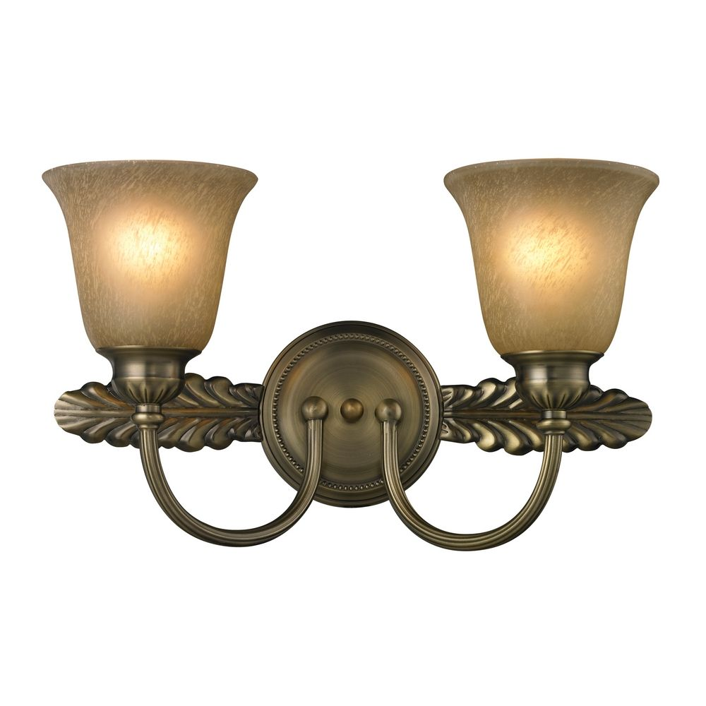 Unique Solid Brass Single Bathroom Wall Light In A Polished Brass Finish