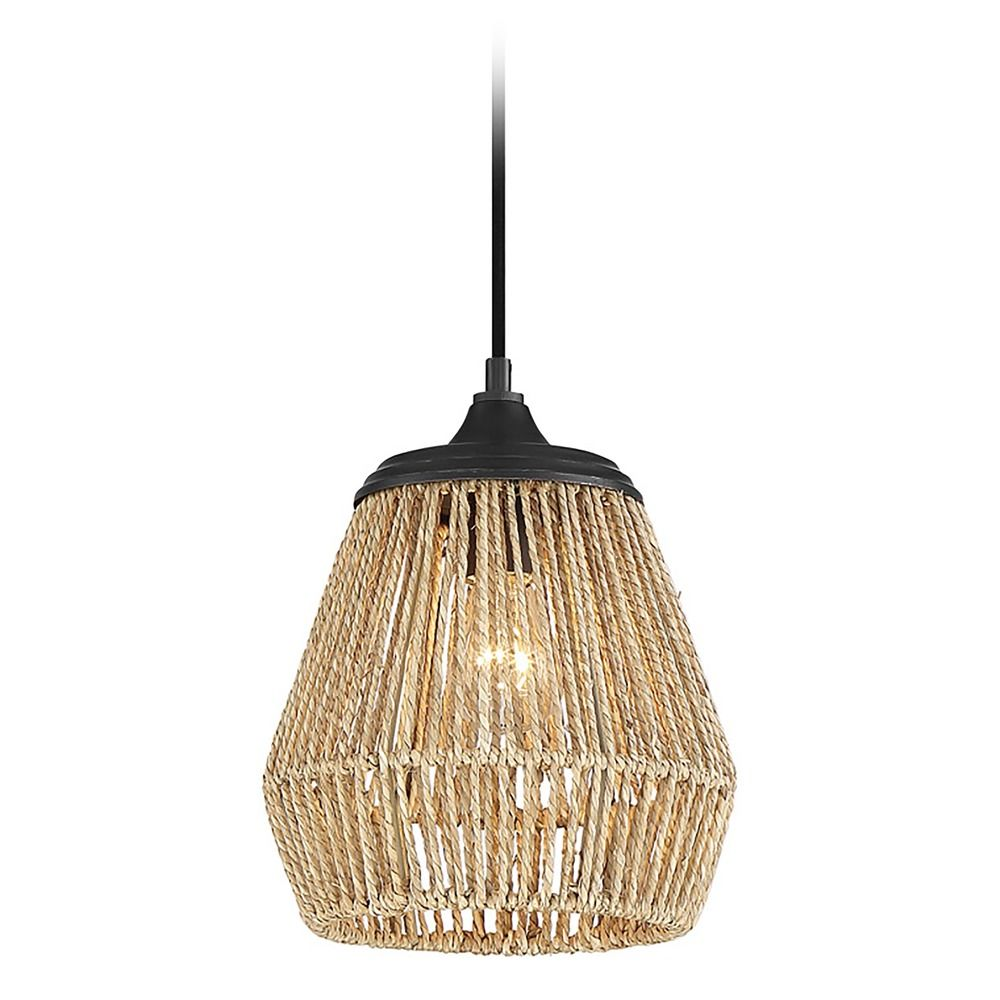 Farmhouse Mini-Pendant Light Brushed Nickel Cody by ... |Quoizel Pendant Lighting