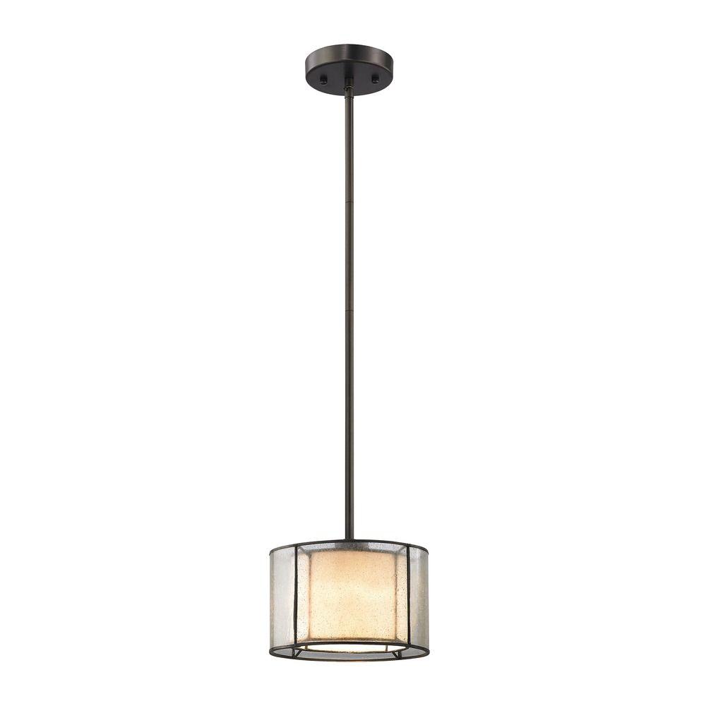 elk lighting mirage bronze mini pendant light with