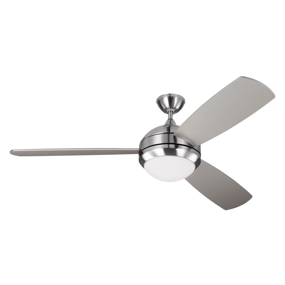 Monte carlo discus trio max brushed steel led ceiling fan with light monte carlo discus trio max brushed steel led ceiling fan with light alt3 aloadofball Images