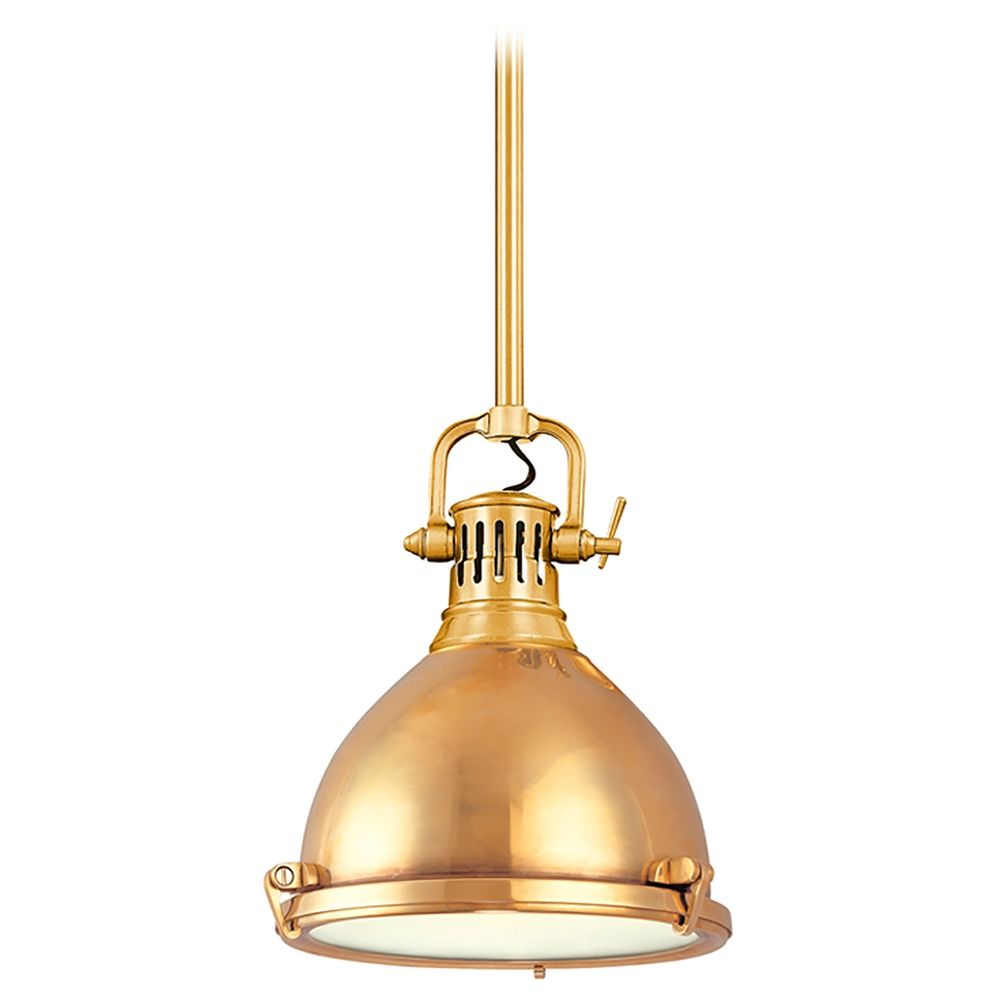 Pendant Light In Aged Brass Finish 2211 Agb