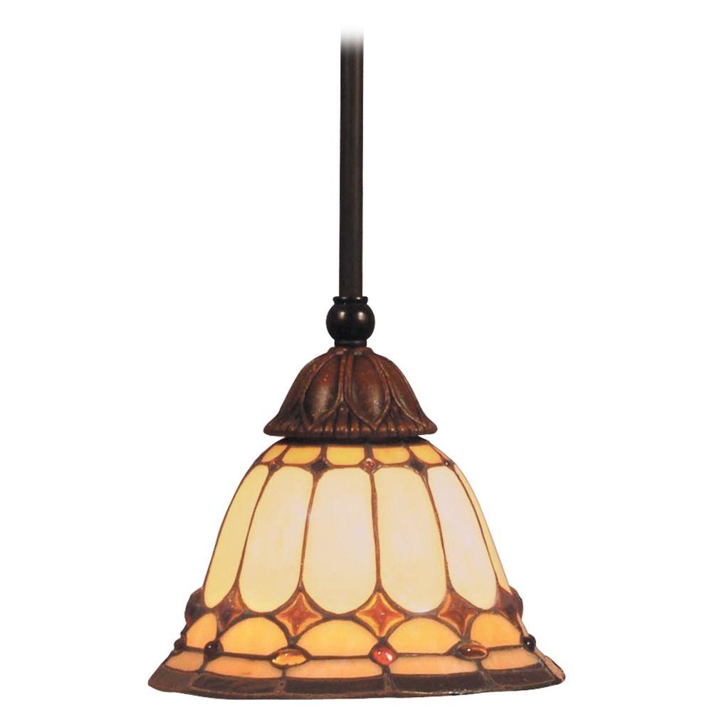 Mini pendant light with multi color glass 648 bc - Colored glass pendant lights ...