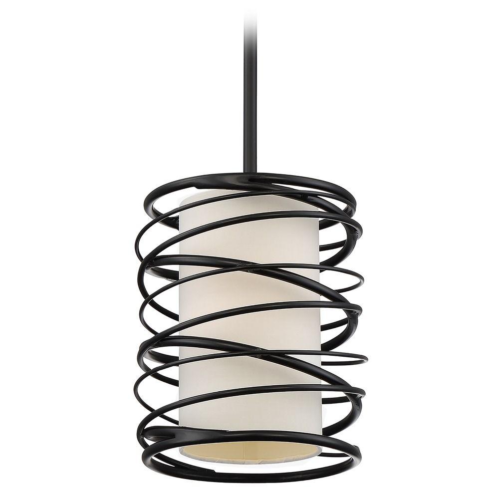 Quoizel Lighting Spiral Mystic Black Mini Pendant Light