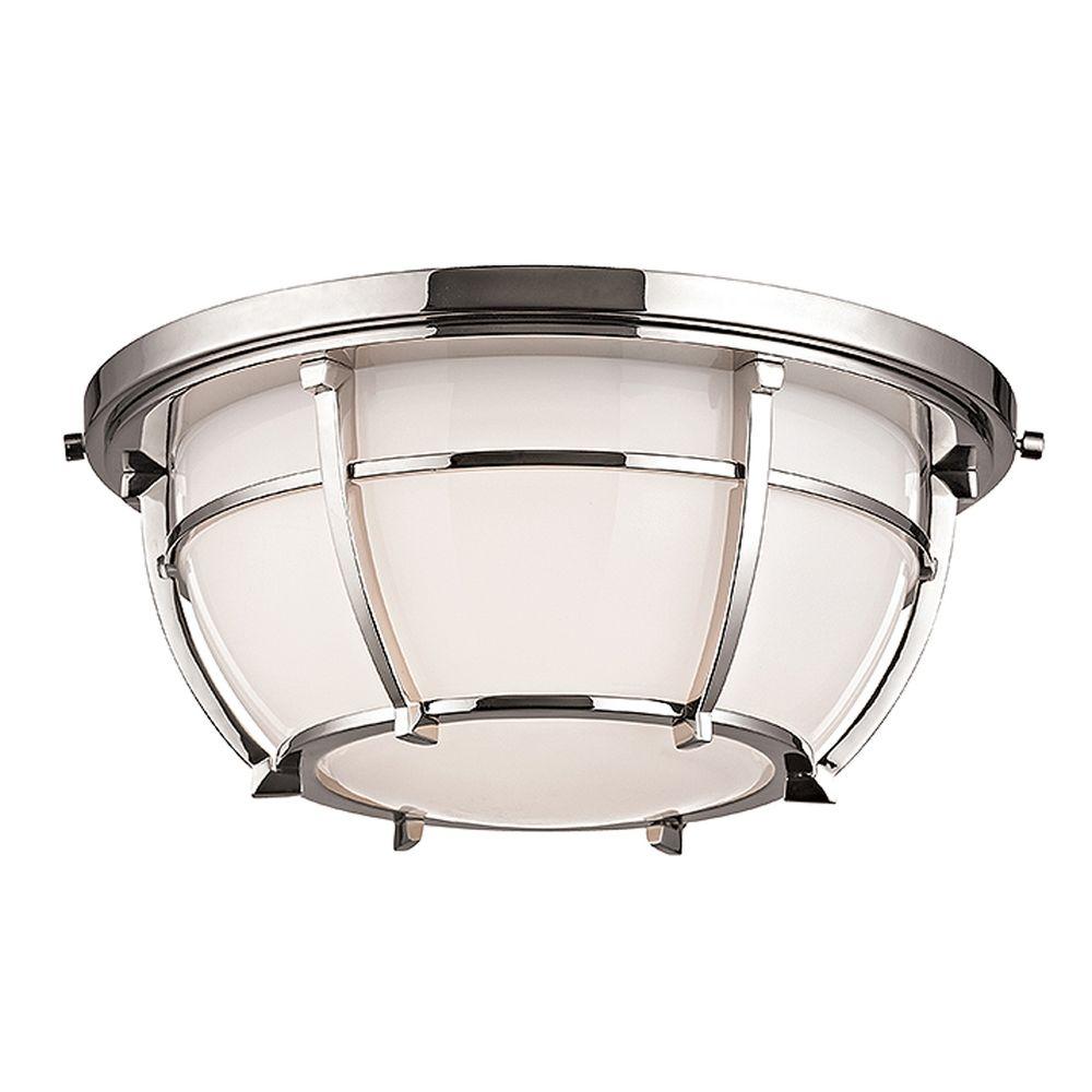 Hudson Valley Emergency Lighting: Hudson Valley Lighting Conrad Polished Nickel Flushmount