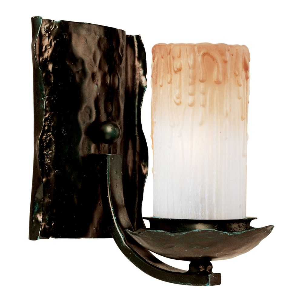 Wall Sconces Bronze Finish : Sconce Wall Light with Beige / Cream Glass in Oil Rubbed Bronze Finish 10970WSOI Destination ...