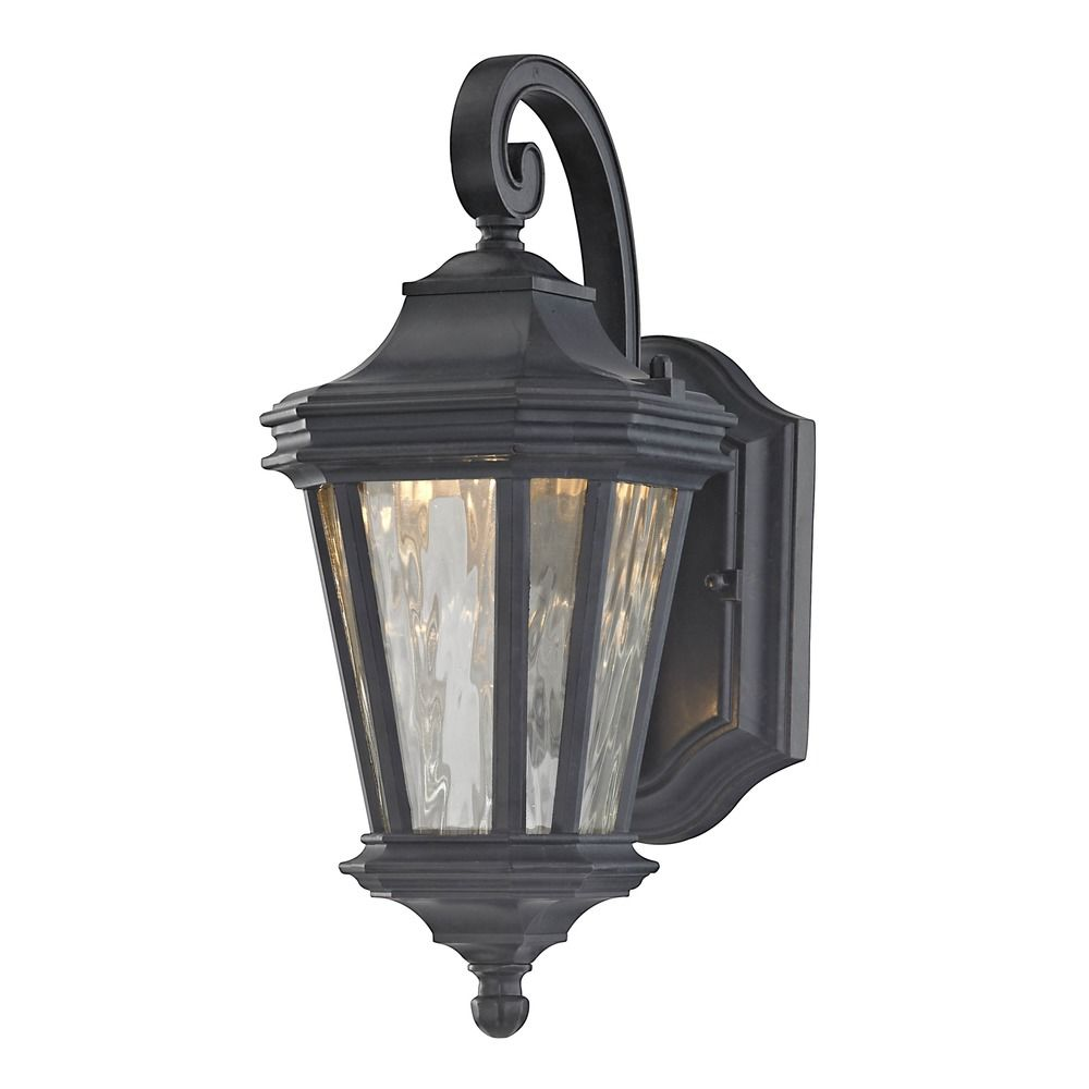 Design Classics Lakeside Olde World Iron LED Outdoor Wall Light 9421-34 Destination Lighting