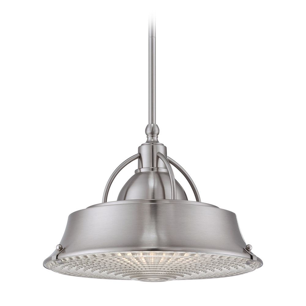 quoizel lighting drum pendant light in brushed nickel finish cdy2814bn