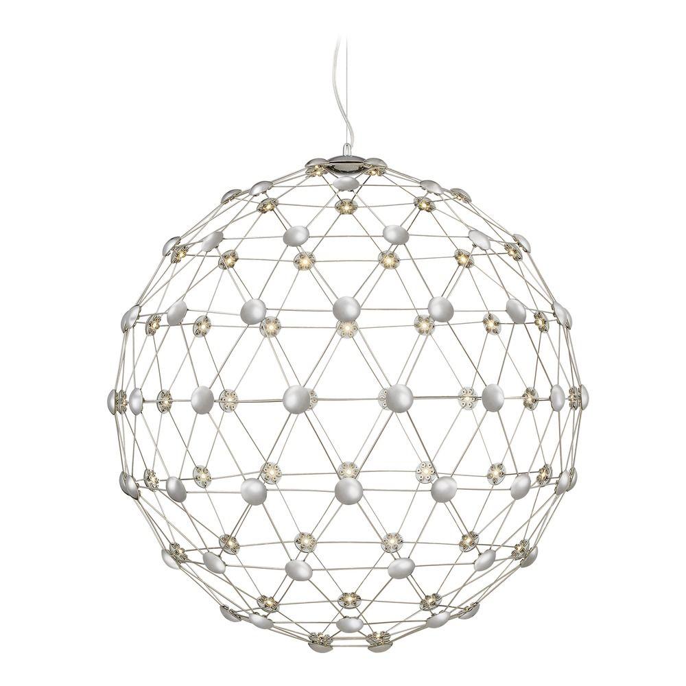 modern led pendant light polished chrome platinum