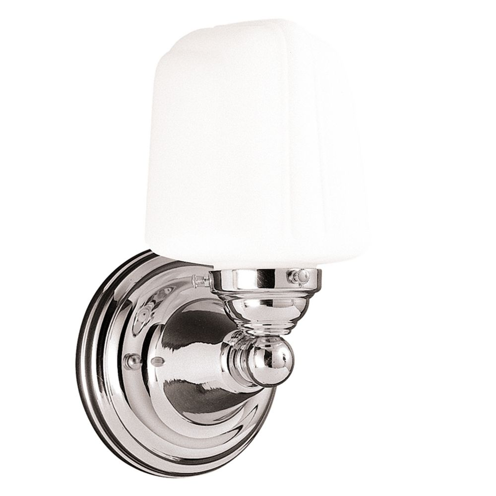 Hudson Valley Lighting Outlet: Sconce With White Glass In Polished Nickel Finish