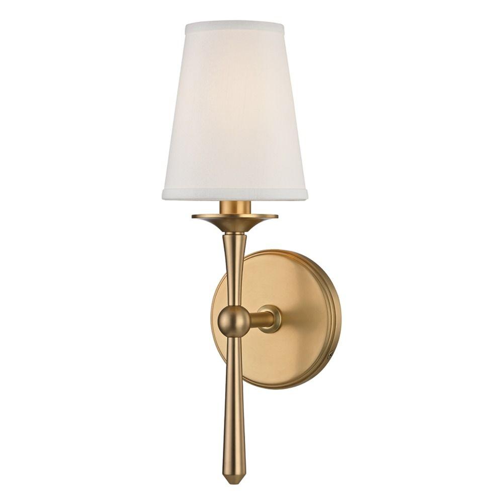 Hudson Valley Emergency Lighting: Hudson Valley Lighting Islip Aged Brass Sconce