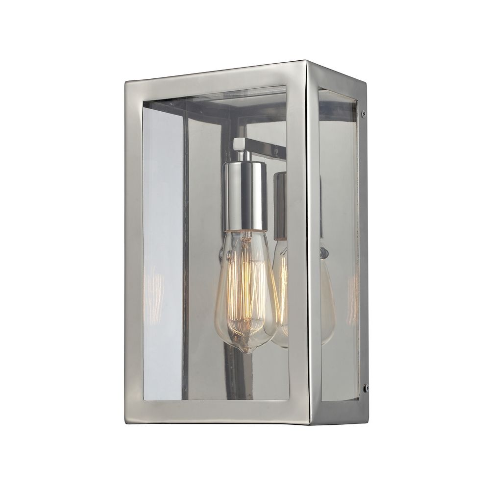 Wall Sconce Chrome Finish : Retro Wall Sconce with Clear Glass in Polished Chrome Finish 31210/1 Destination Lighting