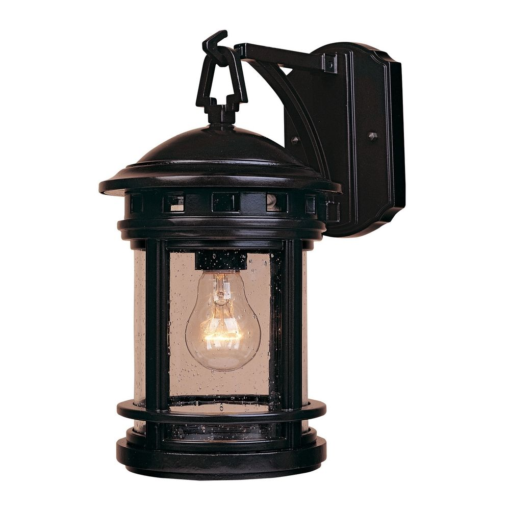 Bronze Glass Wall Lights : Outdoor Wall Light with Clear Glass in Oil Rubbed Bronze Finish 2370-ORB Destination Lighting