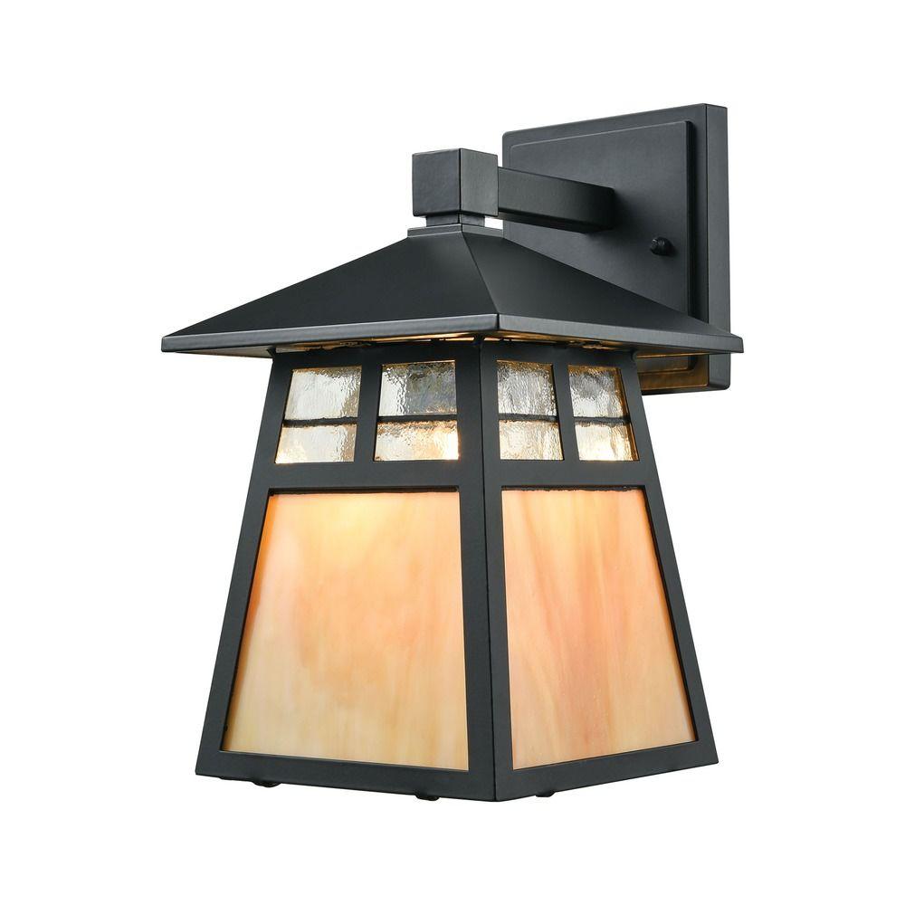 Elk Lighting Cottage Matte Black Outdoor Wall Light