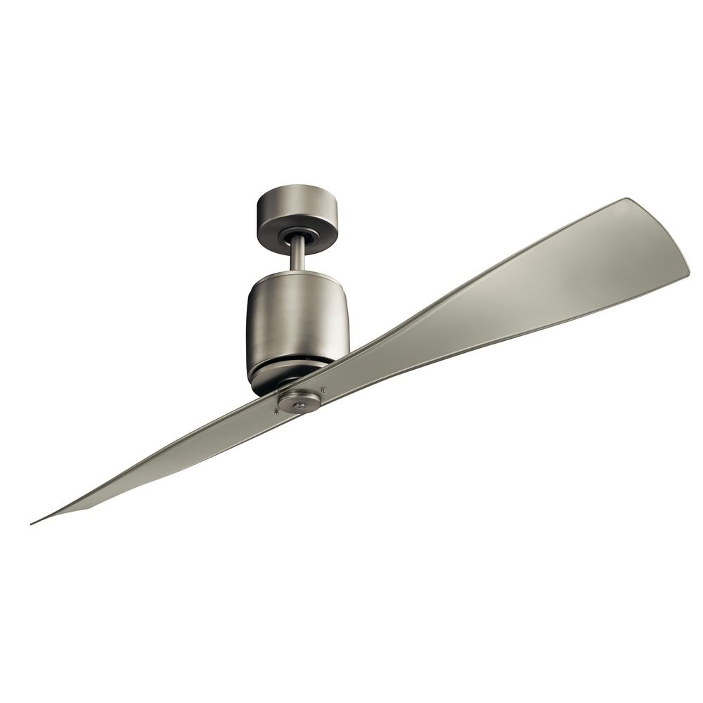 60 inch 2 blade ceiling fan brushed nickel by kichler lighting product image aloadofball Images